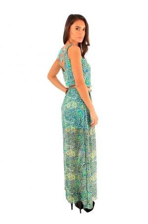 cute on feet at latest discount FB Vicky Black, Green,Beige Butterfly Maxi Dress | Kids Wearhouse