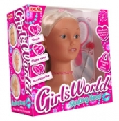 John Adams Girl's World Bead and Style Head