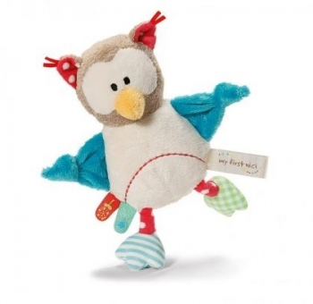 NICI Owl Grabber with Rattle For Baby