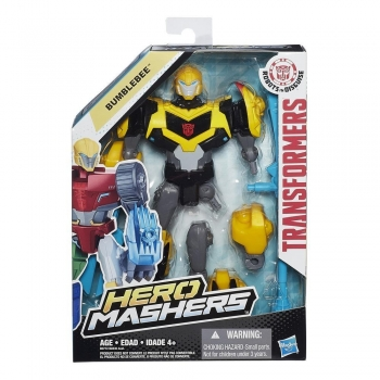 Transformers Hero Masher Figure Ast - Bumblebee.