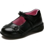 1KH GIRLS SHELLY SCHOOL SHOES WITH LIGHTS