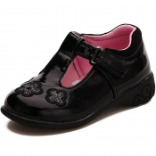 1KH GIRLS JOSIE SCHOOL SHOES WITH LIGHTS